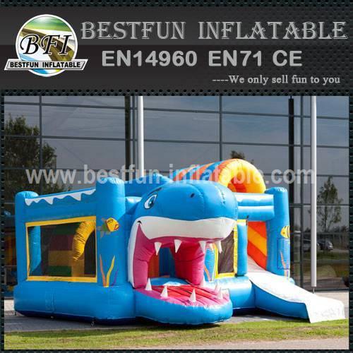 Sea world inflatable bouncy slide