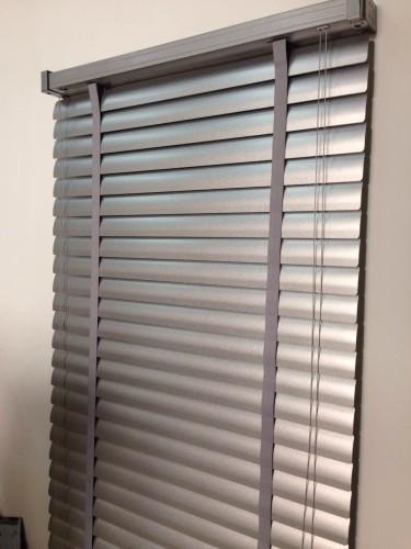wooden effect aluminium slats metal headrail plastic wand. Black Bedroom Furniture Sets. Home Design Ideas
