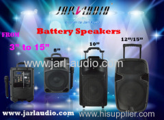 Portable battery speakers from 6inch to 15inch