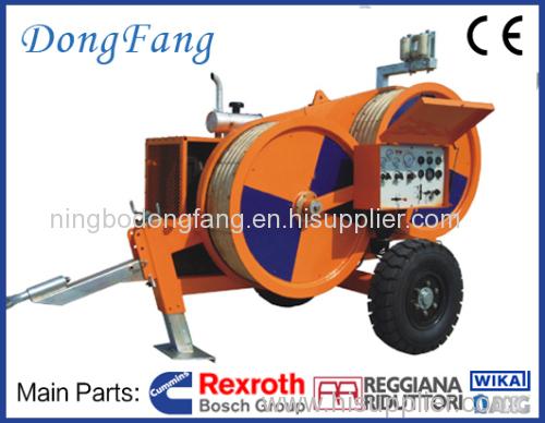 110KV Overhead Transmission Line Stringing Equipments 4 ton puller with Cummins Engine