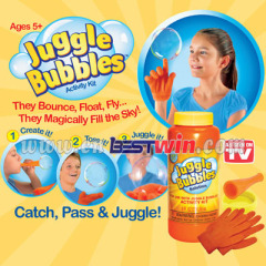 Magic bouncing bubble with gloves