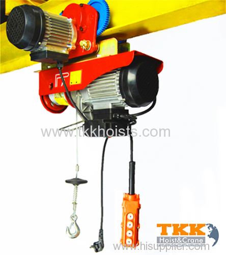 Wire Rope Hoist Electric Hoist with 18m Extended Wire Rope Max Capacity 300kg