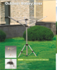 outdoor 3 arms aluminium rotary drier wih tripod stand for camping