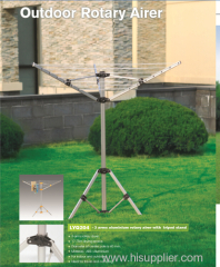 3 arms rotary airer with tripod