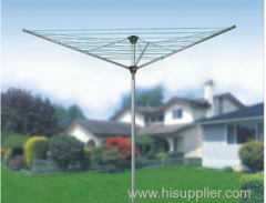 outdoor 3 arms umbrella steel rotary airer and clothes airer