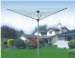 outdoor 3 arms steel clothes airer laundry rack