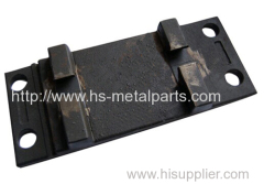 Tie plate railway casting parts