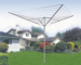 outdoor 50m 4 arms rotary airer and clothes line