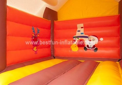 Bouncy castle cottage snow