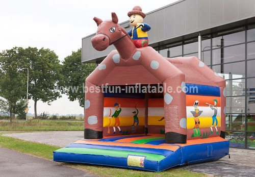 Bouncy castle Cowboy jumping