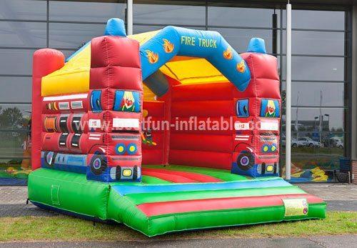 Bouncy castle Fire truck