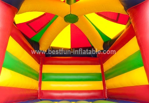 Inflatable Bouncy castle carousel