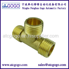 3 way copper 90 degree pipe fitting lateral tee brass connector male to male hydraulic hose joint
