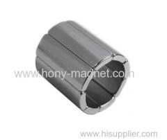 High grade permanent neodymium half round magnet