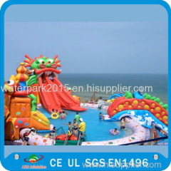 Giant Kids Inflatable Water Park For Hotel Swimming Pool