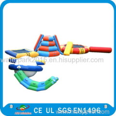Waterproof Tarpaulin Inflatable Floating Water Park Equipment For Rental / Festival Activity