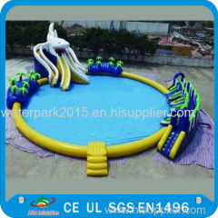 Adult Or Kids Inflatable Aquatic Water Trampoline For Water Parks 0.9mm PVC