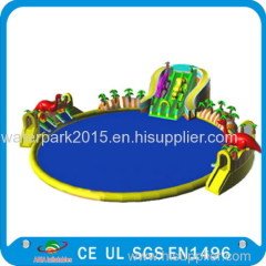 2015 inflatable water park with swimming pool
