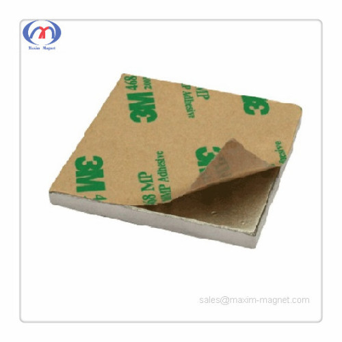Neodymium square magnets with 3M self-adhesive