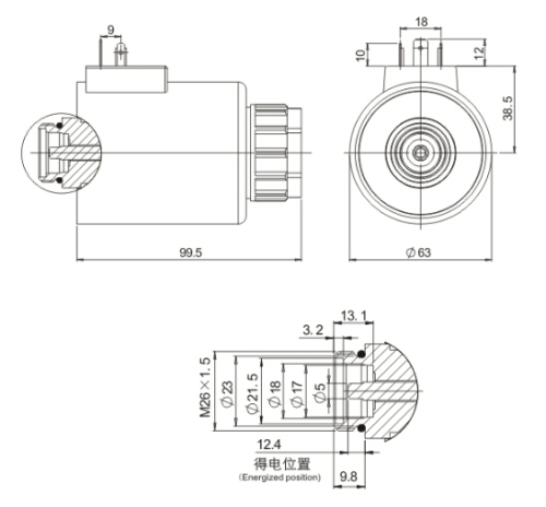 MFZ10-90Y* Rexroth Series Solenoid for Hydraulics(MFZ12-90YC)