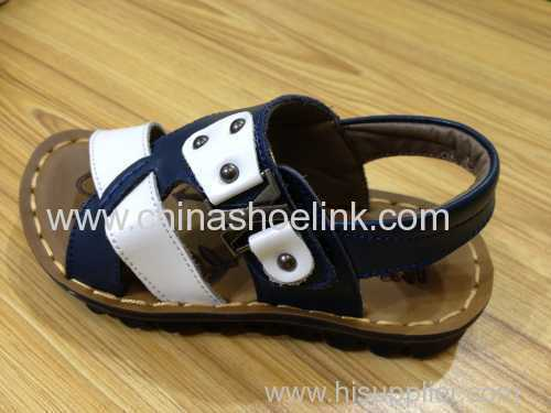 Child full grain leather sandals
