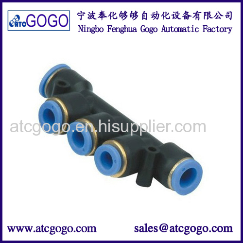 5 way pneumatic pipe fitting pu hose connector 4mm 6mm 8mm 10mm 12mm 14mm 16mm