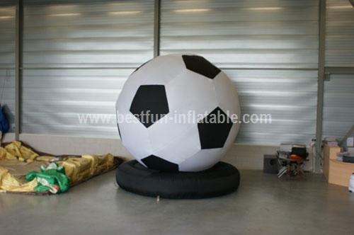 Inflatable soccer balls let go