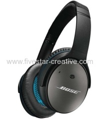 Bose Black Acoustic Noise-Canceling Over-Ear Headphones QC25 for iPhone iPod iPad