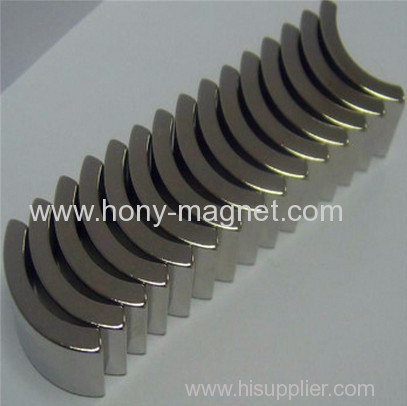 Permanent rare earth arc rotor magnets