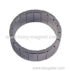 Sintered neodymium arc motor magnets