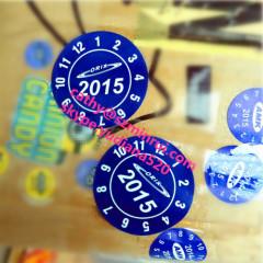 Pantone code printing bule round stickers