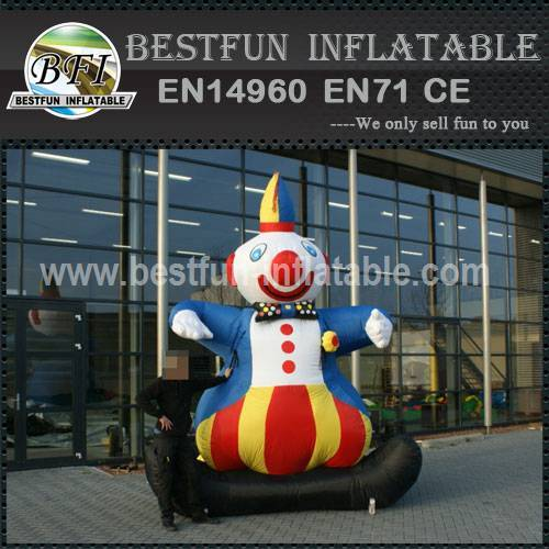 Advertisement inflatable clown cartoon