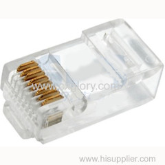 RJ45 Plug Crystal Head/Male Plug/8p8c Transparent Crystal Head