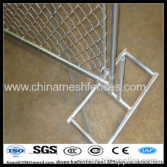 10ft long hot dipped galvanized temporary construction chain link fence
