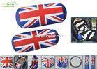 Column Shape UK Flag Soft Polyester car seat neck pillow with soft PP cotton