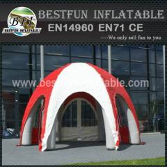 Inflatable tent for ad
