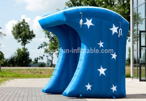 Blue Popcorn inflatable tent