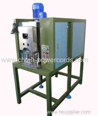 Crimping machine with wire guide
