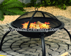 folding outdoor bbq grill fire pit