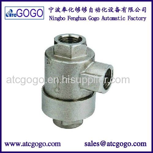 Air compressor quick exhaust valve pneumatic vent aluminum alloy one way valve 1/8 1/4 3/8 1/2 BSP NPT