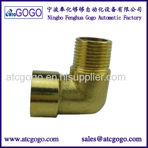 Copper body brass pipe fitting male female 90 degree elbow thread gas air water connector G PT