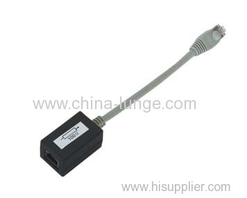 Modular jacks, ISDN 1port adapter, unshielded type, input is rj45 plug