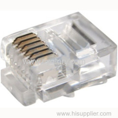 Quality Assurance UTP Modular Male Plug Connector/Crystal Head for 6p6c