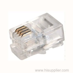 Quality Assurance UTP Modular Male Plug Connector/Crystal Head for 4p4c