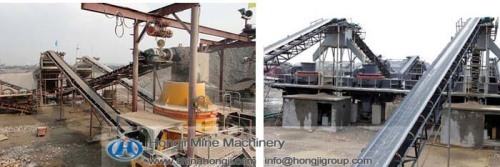 Mechnical type high efficiency sand making plant