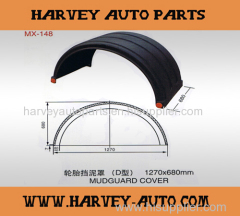 Mudguard Fender Mudapron for trucks and trailers 1270*680*680mm