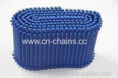 Plastic radius flush grid Modular conveyor radius belt