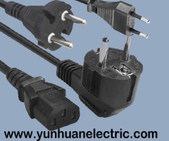 European AC Power Cord VDE Approved