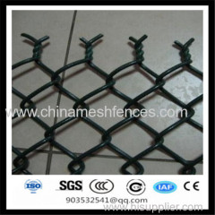 plastic pvc coated chain link wire mesh fence