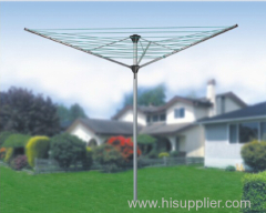 3-arm galvanized steel rotary clothesline airer